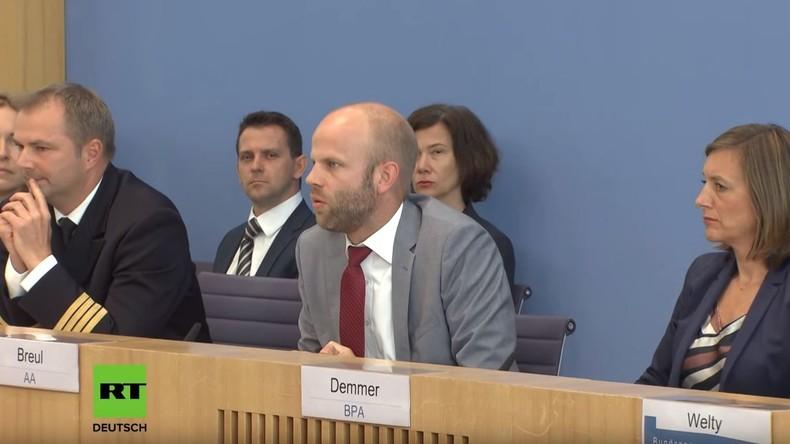 """Regierungssprecher zu Völkerrechtsverletzungen deutscher Unternehmen: """"Haben nichts dazu zu sagen"""""""