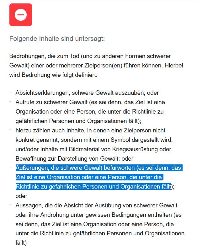 """Richter und Jury: Facebook-Richtlinie erlaubt Morddrohungen gegen """"gefährliche Personen"""""""