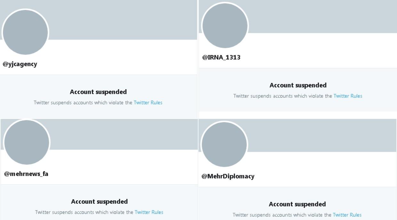 Twitter sperrt Konten von drei iranischen Nachrichtenagenturen