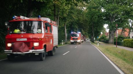 Feuerwehrfahrzeuge bei Lübtheen