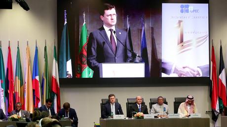 Bei der Opec+-Konferenz in Wien wurde am 2. Juli die Verlängerung der Ölförderkürzung für weitere neun Monate vereinbart.