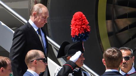Putin bei seiner Ankunft in Rom am Donnerstag