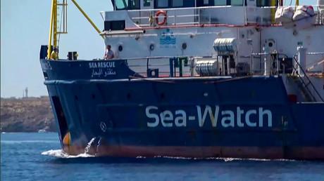 Die Sea-Watch 3 auf dem Weg zur Insel Lampedusa.