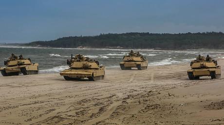 Bald auch in Taiwan zu sehen? M1A1 Abrams-Kampfpanzer des U.S. Marine Corps während einer Übung in Polen (Ustka, 12. Juni 2018)