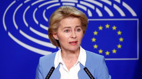 Die deutsche Verteidigungsministerin Ursula von der Leyen bei einer Pressekonferenz am 10. Juli 2019 in Brüssel: Ob die CDU-Politikerin zur Präsidentin der EU-Kommission gewählt wird, ist noch offen.