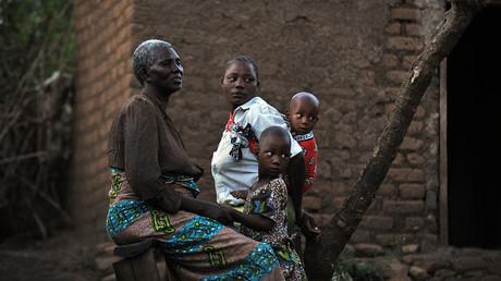 Ein Foto aus dem Dorf in Tarime, Tansania, 29. Juni 2010.