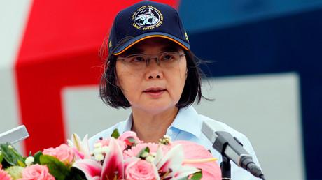 Taiwans Präsident Tsai Ing-wen in Taipeh, New Taipeh City, Taiwan, 4. Mai 2019.