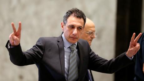 Der US-Bürger libanesischer Abstammung, Nizar Zakka, nach seiner Freilassung im Präsidentenpalast in Baabda, Libanon, Juni 2019.