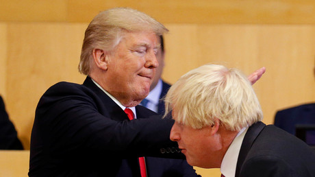 US-Präsident Donald Trump und der britische Politiker Boris Johnson, Vereinte Nationen, New York, USA, 18. September 2017.
