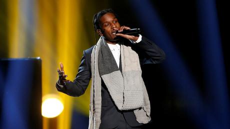A$AP Rocky auf der Bühne in Los Angeles, Kalifornien, 23. November 2014.