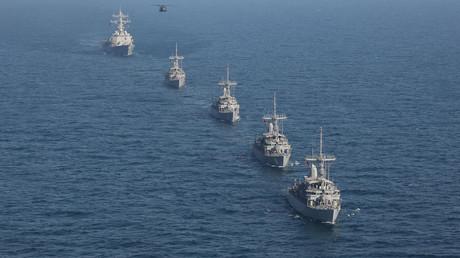 Demonstration der Stärke: US-Kriegsschiffe durchqueren das Arabische Meer (11. Juli 2019).