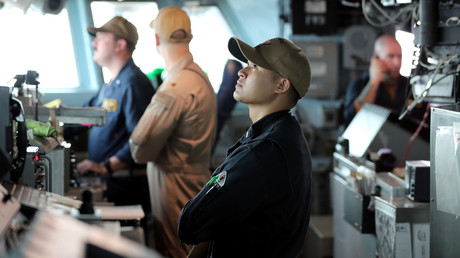 Besatzung der USS Boxer, Arabisches Meer, 16. Juli 2019.