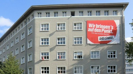 Das Karl-Liebknecht-Haus vor den Wahlen zum Abgeordnetenhaus in Berlin 2011.
