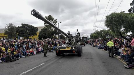 Am Wochenende feierte Kolumbien seinen Unabhängigkeitstag mit einer Militärparade in der Hauptstadt (Bogota, 20. Juli 2019).