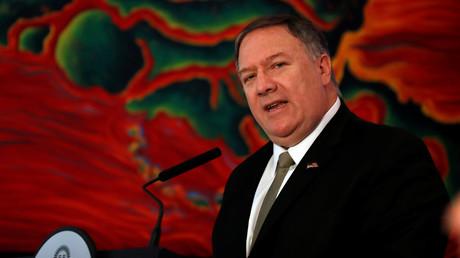 Drängt auf eine internationale Koalition gegen den Iran: US-Außenminister Mike Pompeo