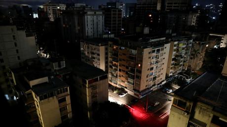 Ein Blick auf Caracas während des Stromausfalls am 23. Juli 2019