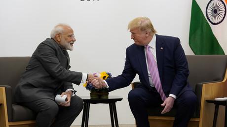 US-Präsident Donald Trump und Indiens Premierminister Narendra Modi während des G20-Gipfels in Osaka, Japan