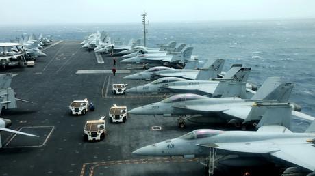 US-Flugzeugträger im Golf von Oman im Juli 2019