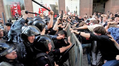 Zusammenstöße mit der Polizei in Moskau am 27. Mai 2019