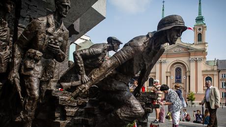 Denkmal zum Zweiten Weltkrieg in Warschau, Polen, am 1. August 2014.