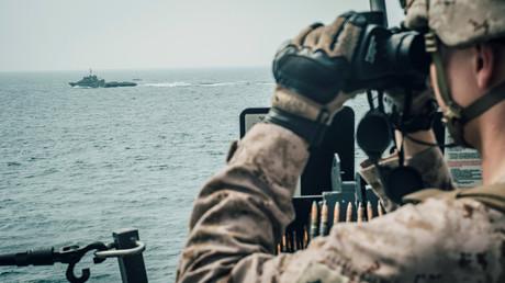 (Archivbild). Eine U.S. Marine auf der USS John P. Murtha am 18. Juli 2019.