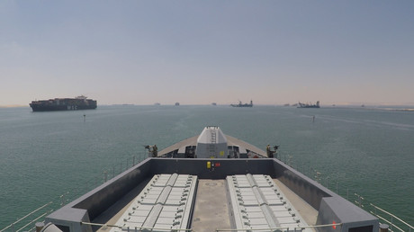 (Symbolbild). Der Zerstörer der Royal Navy, HMS Duncan, durchquert den Suezkanal in den Golf, 28. Juli 2019.