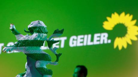 Symbolbild: Wahlkampf der Grünen in Frankfurt, Deutschland, 25. Oktober 2018.