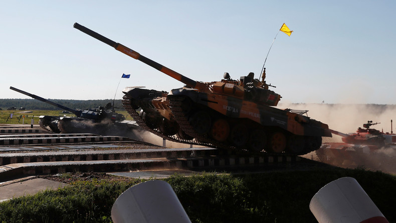LIVE: Internationaler Panzerbiathlon in der Nähe Moskaus