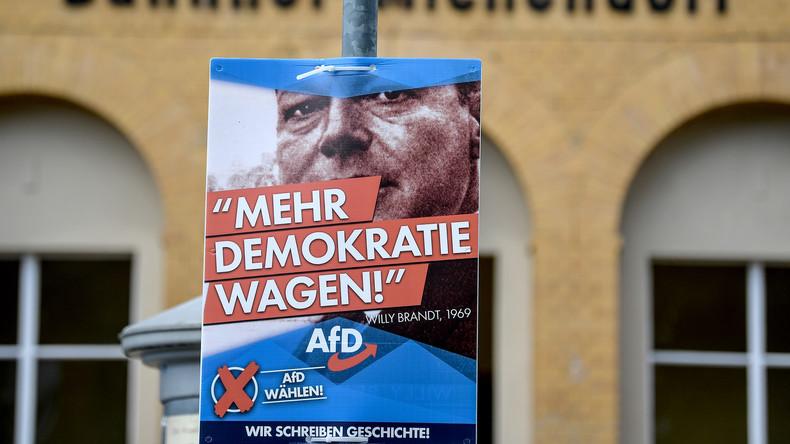 """""""Mehr Demokratie wagen"""": SPD-Spruch auf AfD-Wahlplakaten in Brandenburg – Sozialdemokraten erzürnt"""