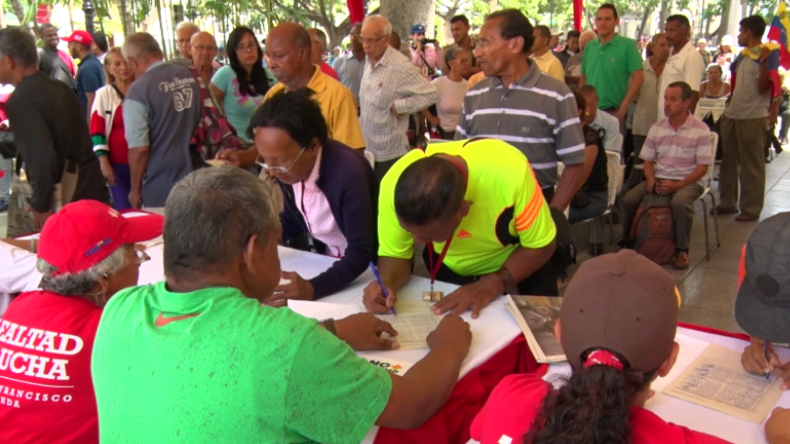 """""""Wollen 13 Millionen Unterschriften sammeln"""" – Venezuela startet Petiton gegen US-Sanktionen"""
