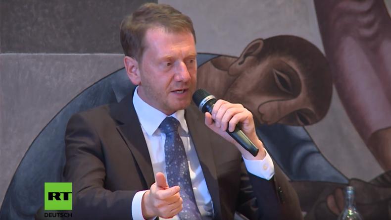 Spitzenkandidaten in Sachsen diskutieren über Ende der Russlandsanktionen