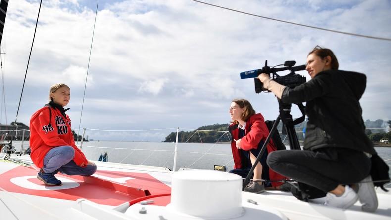LIVE: Pressekonferenz von Greta Thunberg vor ihrem Segeltörn nach New York