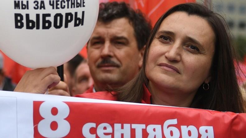 Kommunisten fordern bei autorisierter Moskauer Kundgebung faire Wahlen