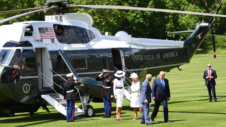 Rasen ruiniert: Queen Elizabeth II. beschwert sich über Trumps Helikopter
