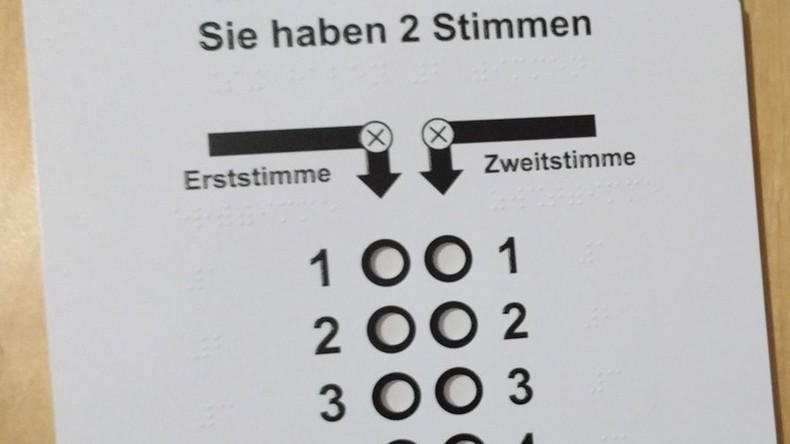 Landtagswahl Sachsen: Leipzig verschickt falsche Wahlschablonen für Blinde