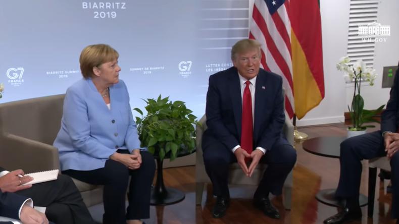 """Merkel schnaubt über Trumps Behauptung: """"Ich habe deutsches Blut"""""""