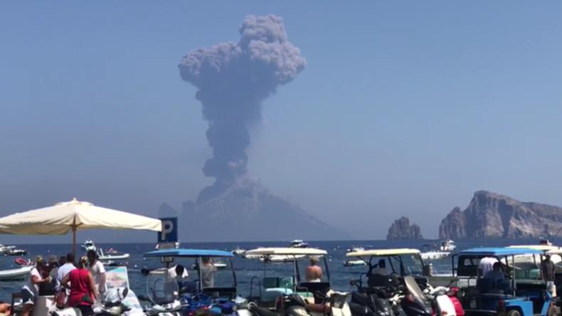 Italien: Vulkan Stromboli bricht zum zweiten Mal innerhalb von zwei Monaten aus