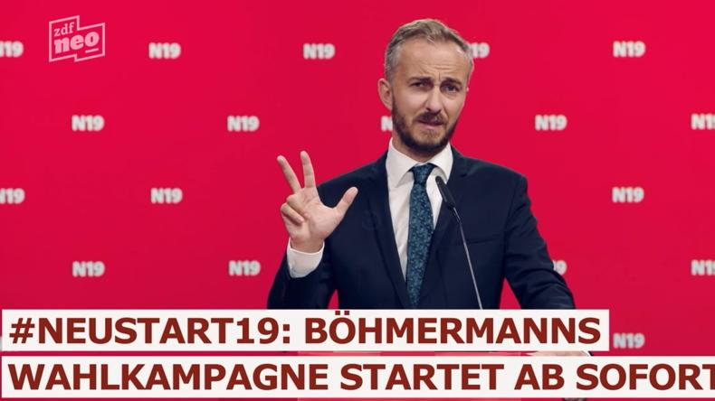 """""""Der Olaf ist 'ne Pfeife"""" – Jan Böhmermann möchte die SPD übernehmen"""