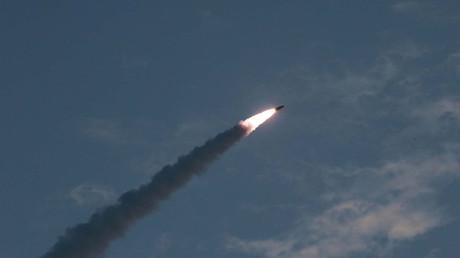 Ein nordkoreanischer Raketenstart am 26. Juli 2019.