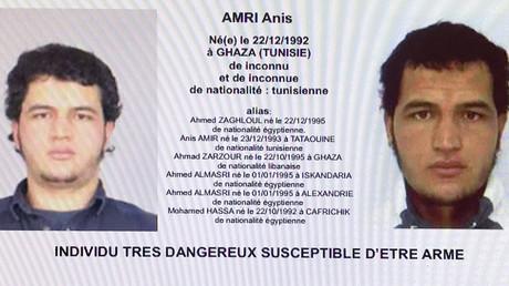 Fahndungsaufruf nach Anis Amri vom Dezember 2016