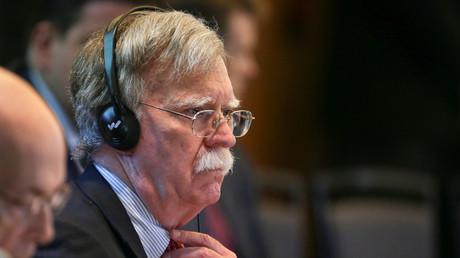 Der nationale US-Sicherheitsberater John Bolton bei einer Konferenz über Venezuela in Lima, Peru, am 6. August 2019.