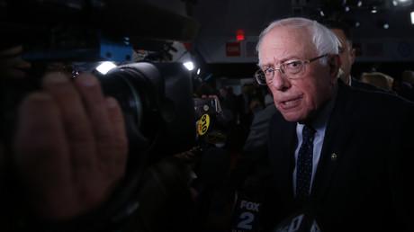 Bernie Sanders nach der zweiten demokratischen US-Präsidentendebatte in Detroit, Michigan, 30. Juli 2019.