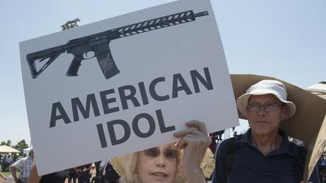 Proteste im texanischen El Paso beim Besuch des US-Präsidenten Donald Trump am 7. August