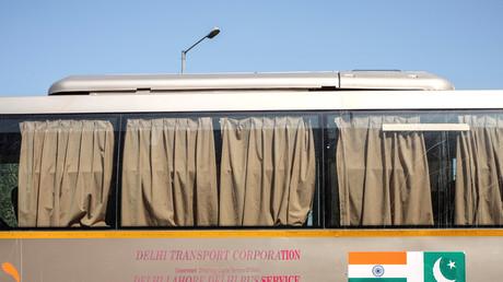 Der pakistanisch-indische Freundschaftsbus, Wagah-Attari-Grenze, Indien, 15. März 2019.