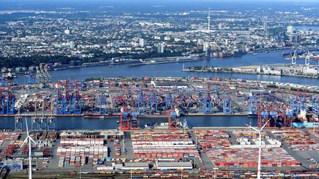 Container-Hafen Hamburg, Deutschland, 1. August 2018.