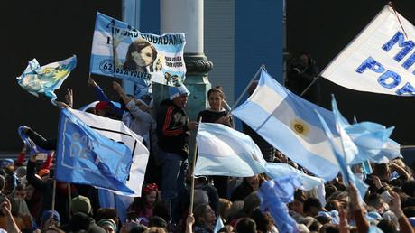 Unterstützer des linksperonistischen Bündnisses