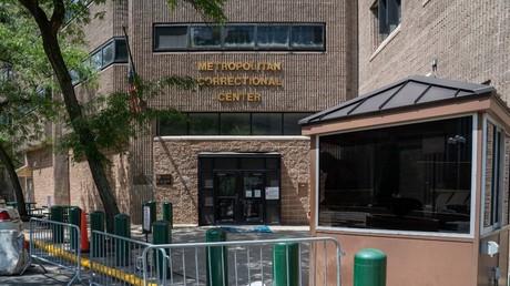 Die Metropolitan Correctional Facility, in der Jeffrey Epstein am 10. August 2019 tot in seiner Gefängniszelle gefunden wurde, New York City, USA.
