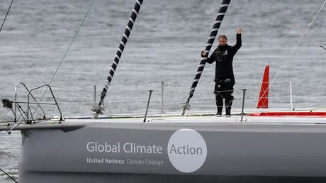 Greta Thunberg auf der Rennyacht, Plymouth, Grossbritannien, 14. August 2019.