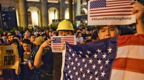 In der Darstellung der westlichen Medien gehören sie zu den Guten: Demonstranten in Hongkong.