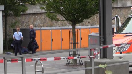 Der Bahnhof von Iserlohn nach der Bluttat vom Samstag